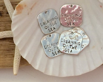 Antique silver dreaming of the sea charm ~ beach charm ~ beach jewelry ~ ocean charm