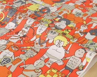Japanese Fabric Kinnikuman - orange - fat quarter