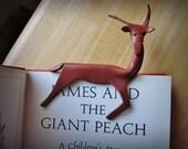Vintage hand-crafted Leather Deer Bookmark or ?