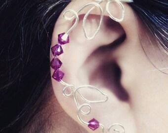 Ear Dreams Ear Cuff Crystal Vine, Bridal Ear Cuff