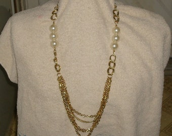 Bold statement necklace with multi strands