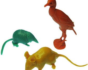 3 x Random Vintage Animal Puzzle Model