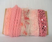 Pink Yarn Scrap Bundle Fiber Easter Baby Girl 1521