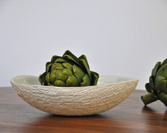 SALE - Large Oval Serving Bowl with Handles - Ceramic Bowl Serving Bowl Large Serving Bowl Fruit Bowl