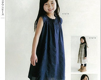 M143 KIDS Shirring Dress from M Pattern - Japanese