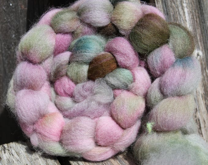 Kettle Dyed Cheviot Wool Top.  Easy to spin. 4oz  Braid. Spin. Felt. Roving. C92