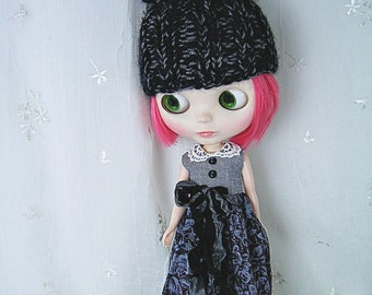 Blythe Overalls, Grey Roses