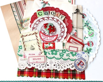 Vintage Christmas Baking Cooking Inspiration Kit in Mom's Kitchen