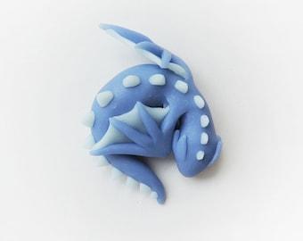 Blue Sleeping Dragon Figure