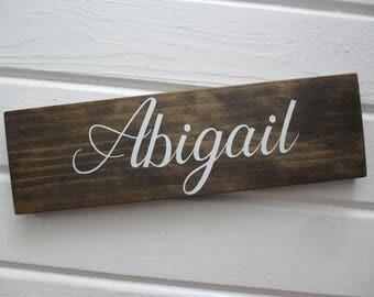 Farmhouse Wood Door Sign