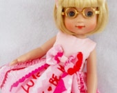 "YOUR CHOICE Of Valentine Dress For AG American Girl 14"" Doll Wellie Wishers Betsy McCall Ann Estelle Ginny Doll Clothes"