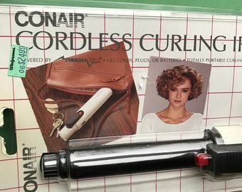 Vintage Conair Cordless Curling Iron • Portable • Hair Styling Tool