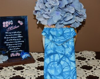 Pot Pouch in shades of blue