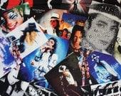 Michael Jackson printed Cotton fabric Music Legend popart