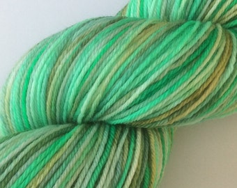Mintish - hand dyed yarn 3.5 oz 437 yds