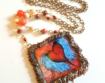 Let Your Heart Soar~Whimsical Moments Necklace