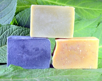 1 Bar of Natural Handmade Soap - Mint Soap with Pure  Essential Oils and Botanicals - Cold Process Soap - Gift