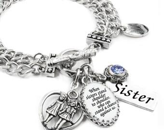 Sister Jewelry, Sister Charm Bracelet, Jewelry for Sister, Sister Quote Bracelet, Gift for Sister, Sister Bracelet