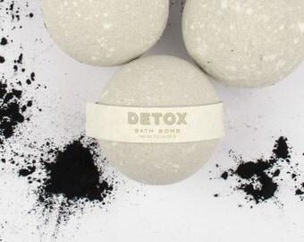 3 Detox Bath Bombs - Bath Fizzie Set - Bath Set - Bath Bomb Gift Set - Gift For Her -  Wife Gift - Stocking Stuffer