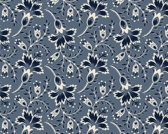 Hold 'Em or Fold 'Em, Bandana Floral on Blue from Maywood Sudios, Yard