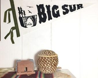Big Sur Banner Silkscreen On Cream Wool Felt