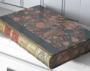 Temple Bar Volume 2 July 1861 by George Augustus Sala Marbled Cover