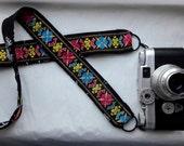 Colorful Embroidered Boho Trim Camera Strap