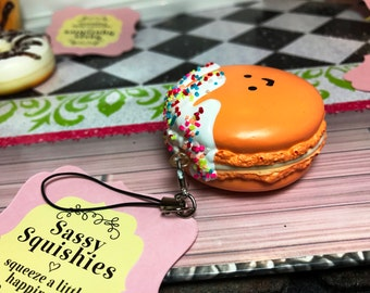 SASSY SQUISHIES Squishy Party Favor Gift Collection Hobby in Frosted Peach Macaroon
