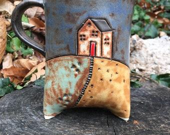 House on the Hill Tripod Mug