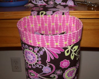 Thread Catcher // Scrap Caddy // Scrap Bag // Pincushion // With rubberized gripper strip // Boho Blossom Orchid