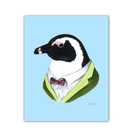 Penguin print 8x10