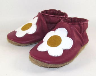 Soft Sole, Leather Baby Shoes, Baby Moccs, 12 to 18 Month