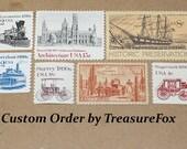 Reserved Custom Order for Rachel. Unused Vintage US Postage Stamps for mailing wedding invitations