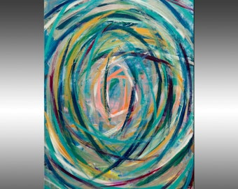 Vortex - 30x40 Inch Original Abstract Painting, Original Art, Contemporary Modern Wall Art, Acrylic Canvas Wall Art, Modern Paintings