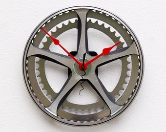Wall Clock, Bike Gift For Him, Unique Christmas Bike Gift, Bicycle Gear Clock, Unique Wall Clock, Cycling Gifts, Bike Art