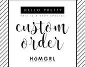 Custom Order for Bree