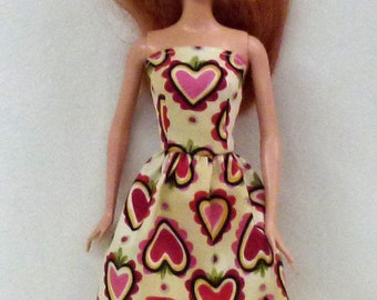 "11.5"" fashion doll Handmade dress by Grizzly Creek"