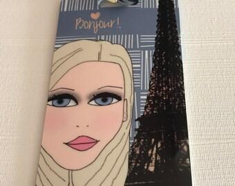 Bag Tag - Luggage Tag, Paris - Bonjour!
