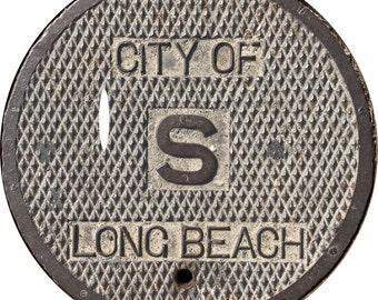 DOORMAT - Long Beach Manhole Cover - Original Photography