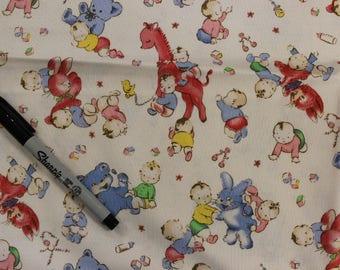 Vintage nursery Beth Ann Bruske Baby fabric Boy Girl  100% cotton fabric by David Textiles