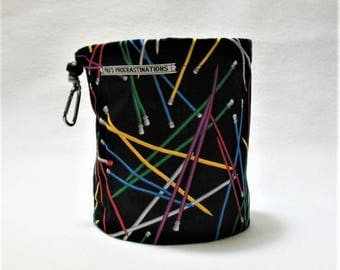 Knitting Needle Bag with Gray
