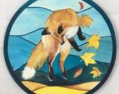 Dancing Fox - medium painting