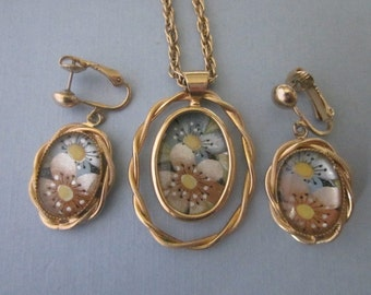 SALE Vintage Park Lane Necklace and Earrings Set