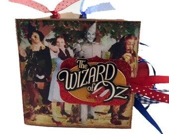 Wizard of Oz Scrapbook - Wizard of Oz Photo Album -  Wizard of Oz Mini Scrapbook