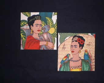 Frida Mexican Art Iron On Patches Applique DIY No Sew