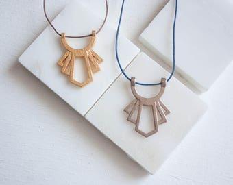 Skyscraper Pendant // Minimalist Necklace / Long Minimalist Necklace / Long Art Deco Necklace / Minimalist Long / Long Necklace with Pendant