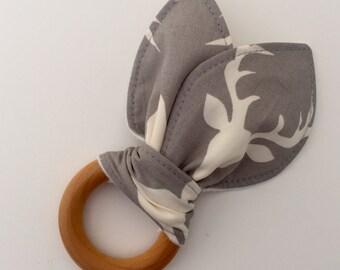 Natural Wooden Teething Ring in Bucks