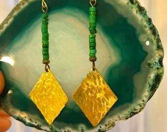 Diamond goddess earrings
