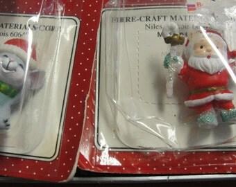 Cute Miniature Santa and Christmas Mouse Figurines