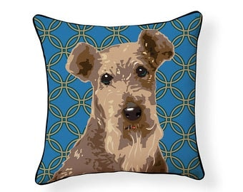 Pooch Decor: Airedale Terrier Indoor/ Outdoor Pillow